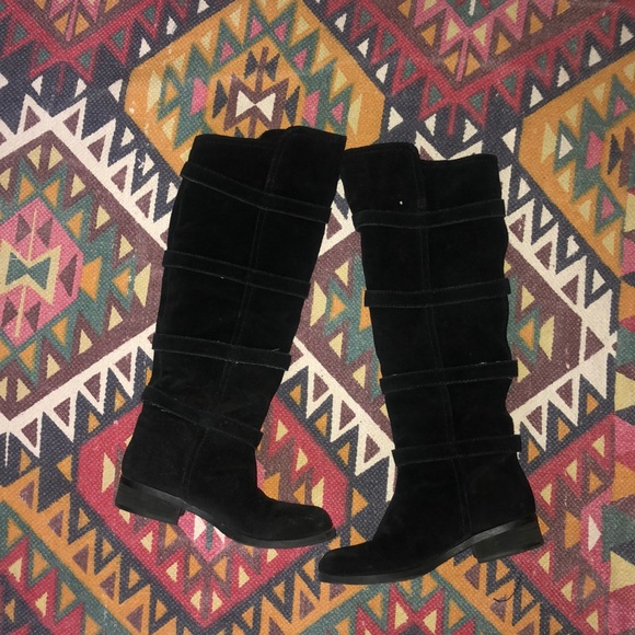 BCBGeneration Shoes - BCBG knee high suede boots